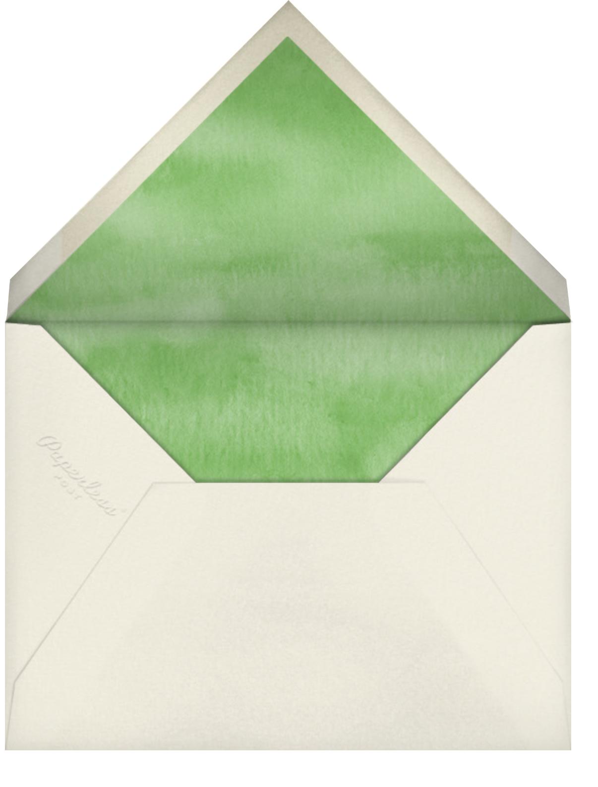 Nest Eggs - Felix Doolittle - Woodland baby shower invitations - envelope back