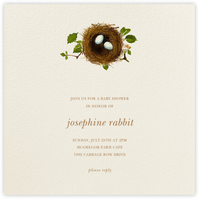 Nest Eggs - Felix Doolittle - Woodland Baby Shower Invitations