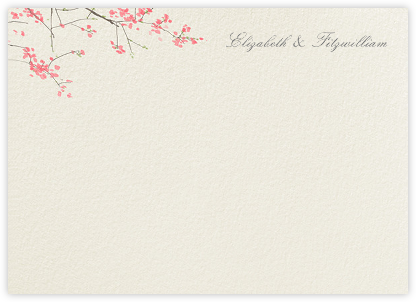 Japanese Cherry (Stationery) - Felix Doolittle - Personalized Stationery