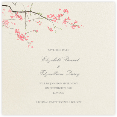 Japanese Cherry (Save the Date) - Felix Doolittle - Save the dates