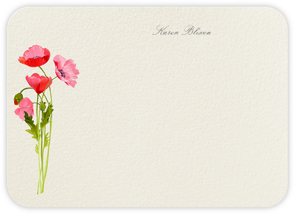 Wild Poppies (Stationery) - Felix Doolittle - Personalized Stationery