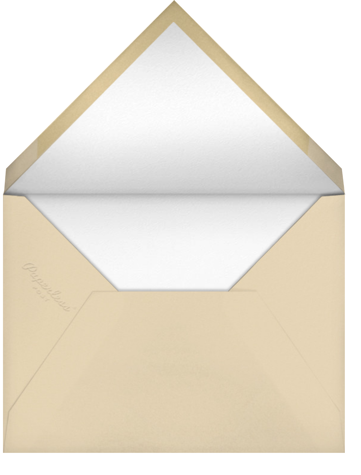 The Nifty '50s - Paperless Post - Luau party - envelope back