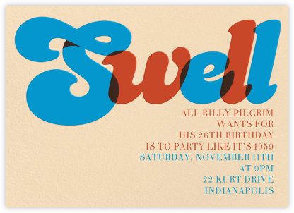 The Nifty '50s - Paperless Post - Luau party invitations