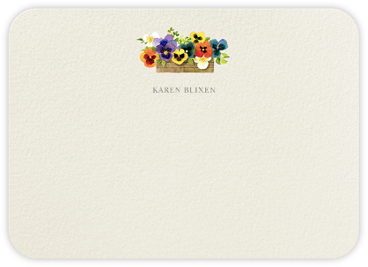 Pansies (Stationery) - Felix Doolittle - Personalized Stationery