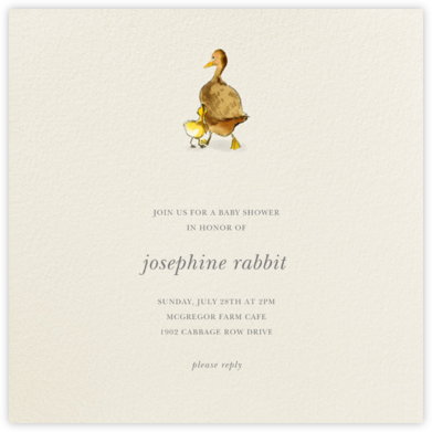 Spring Duckling - Felix Doolittle - Baby shower invitations