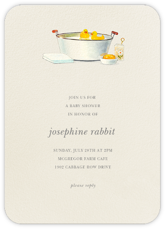 Tin Tub - Felix Doolittle - Baby Shower Invitations