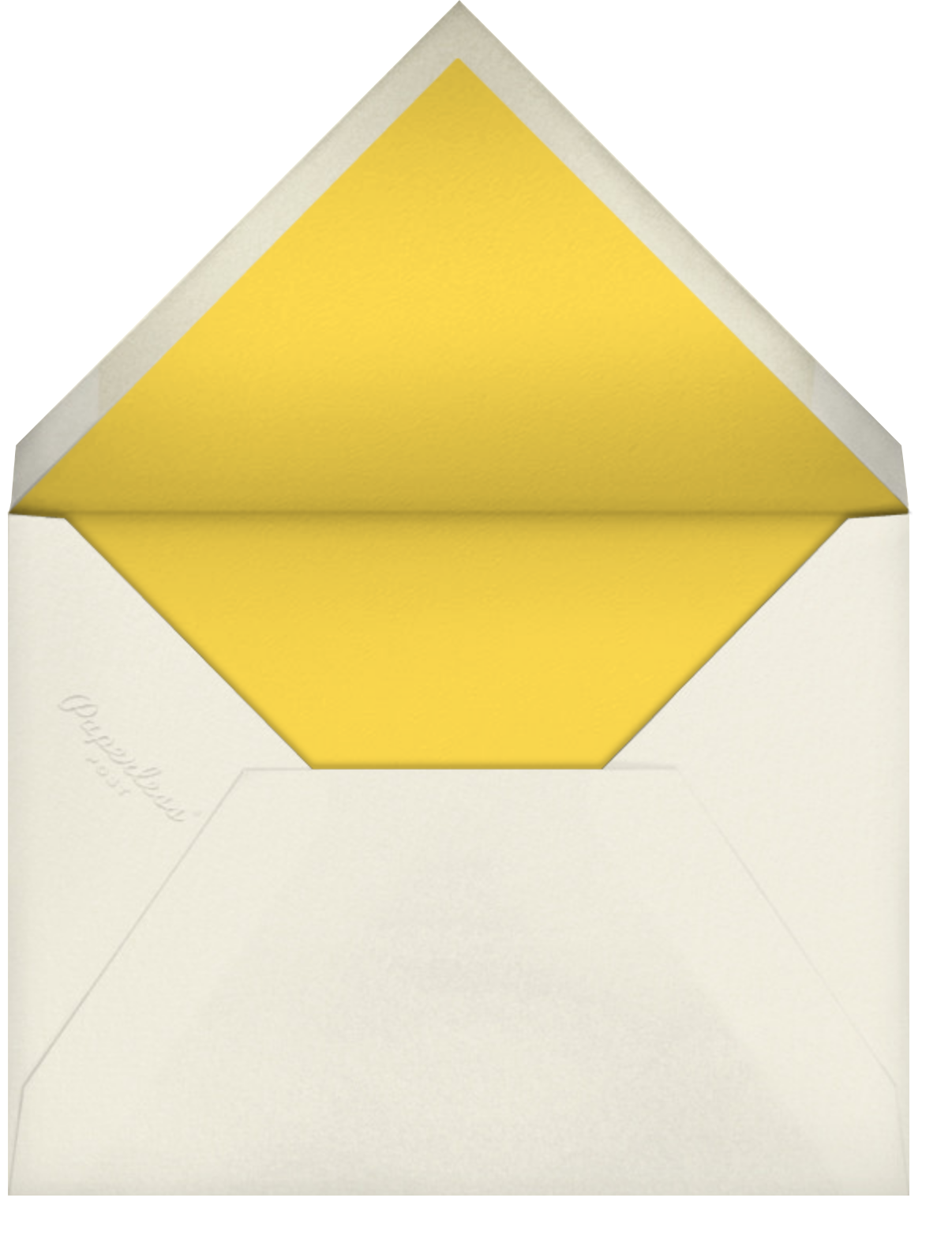 Carnaby (Photo) - Yellow - Paperless Post - Adult birthday - envelope back