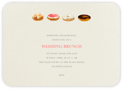Doughnut Quarter - Felix Doolittle - Brunch invitations