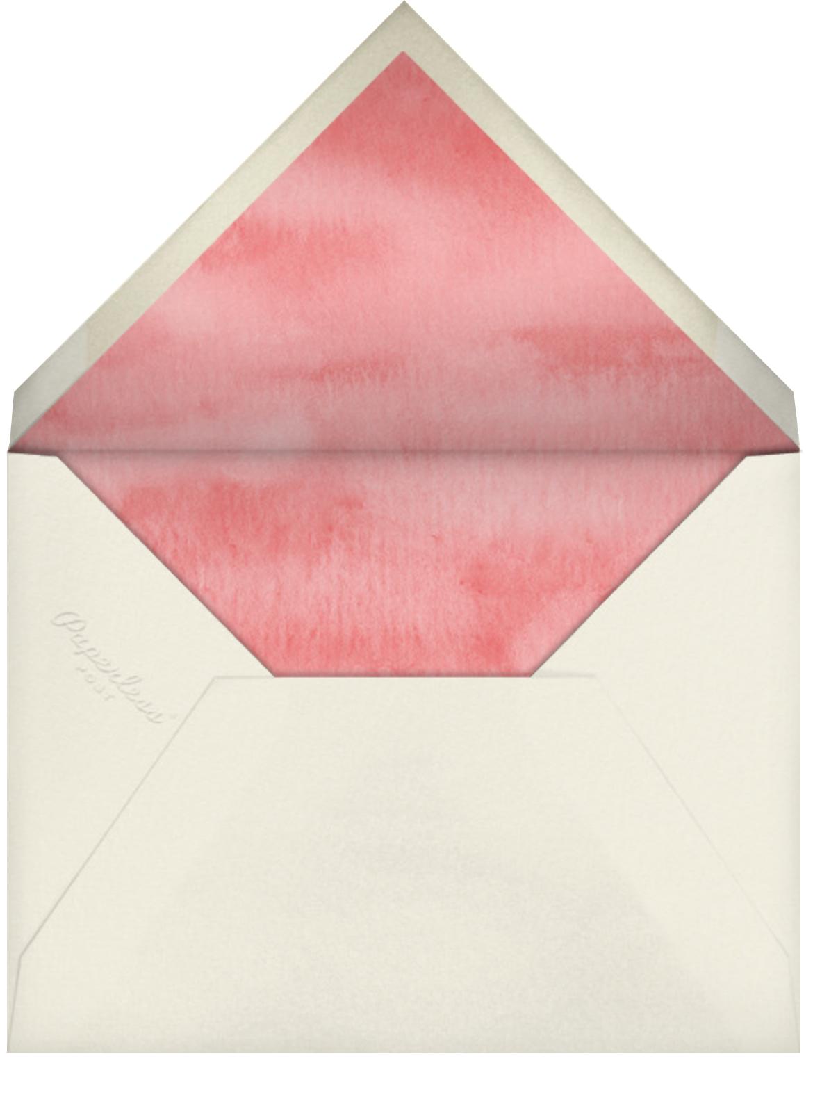 Doughnut Quarter - Felix Doolittle - Wedding brunch - envelope back