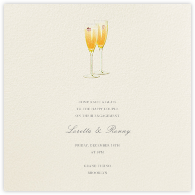 Kir Royale - Felix Doolittle - Engagement party invitations