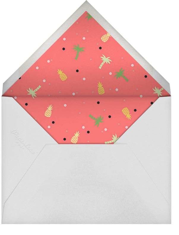 Tropicale - Paperless Post - Adult birthday - envelope back