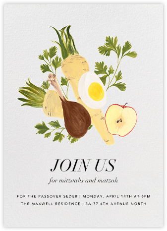 Seder Table - Paperless Post - Passover invitations