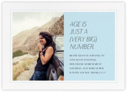 Pastel Split - Glacier - Paperless Post - Adult Birthday Invitations