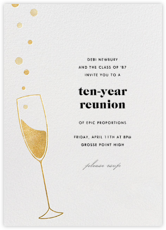 Champagne Bubbles - Paperless Post - Reunion Invitations