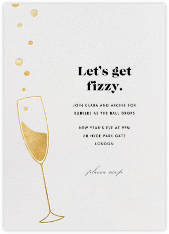 Champagne Bubbles - Paperless Post - New Year's Eve Invitations
