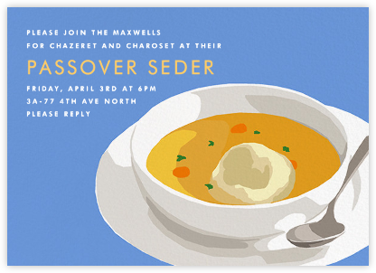Matzo Ball Soup - Hannah Berman - Invitations for Parties and Entertaining