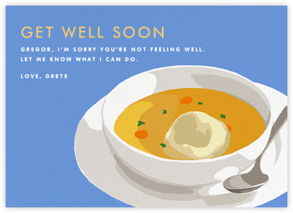 Matzo Ball Soup - Hannah Berman - Get well cards