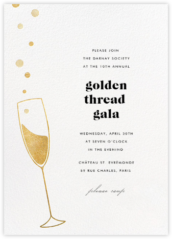 Champagne Bubbles - Paperless Post - Charity and fundraiser invitations