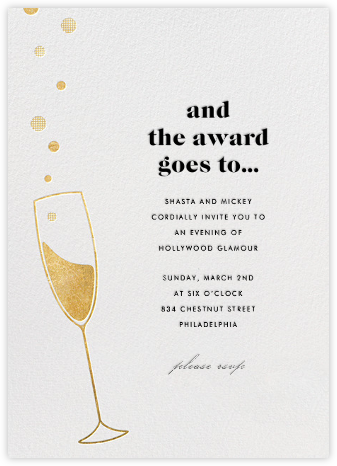 Champagne Bubbles - Paperless Post - Viewing Party Invitations