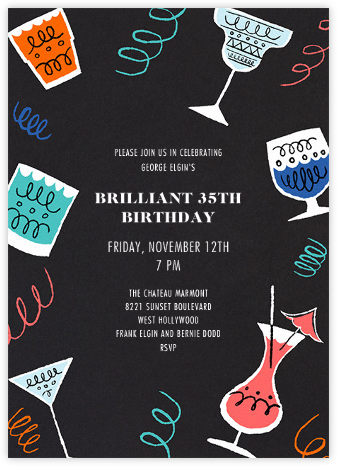 Happy Hour - Paperless Post - Adult Birthday Invitations
