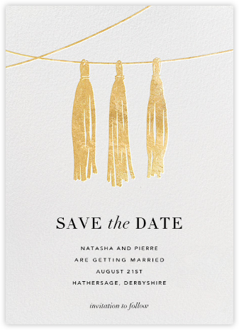 Tasseled II (Save the Date) - Gold | null