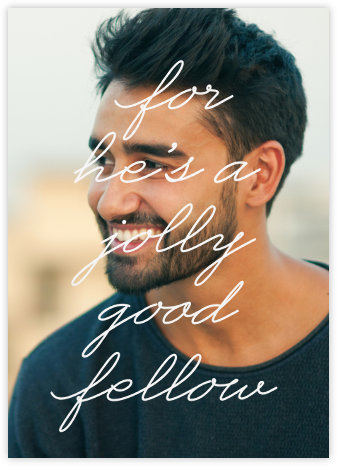 Jolly Good Photo (Him) - Paperless Post - Adult birthday invitations