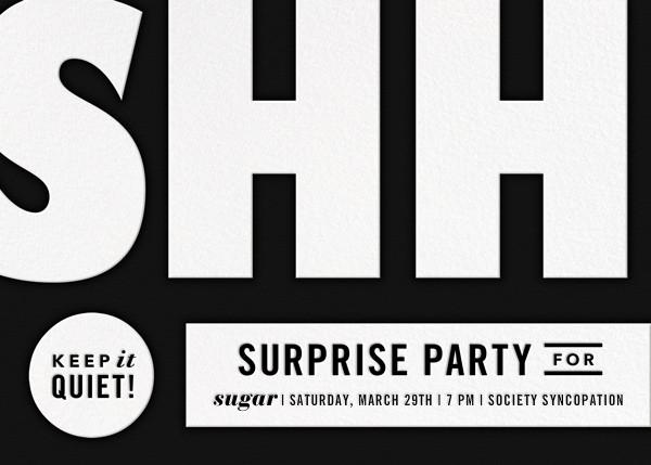 The Loudest Whisper - Black - Paperless Post - Adult birthday invitations