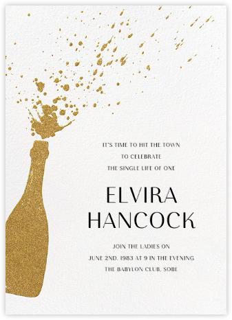 Champers - Paperless Post - Bachelorette party invitations