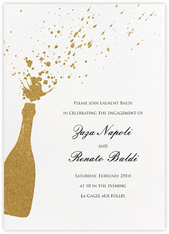Champers - Paperless Post - Engagement party invitations