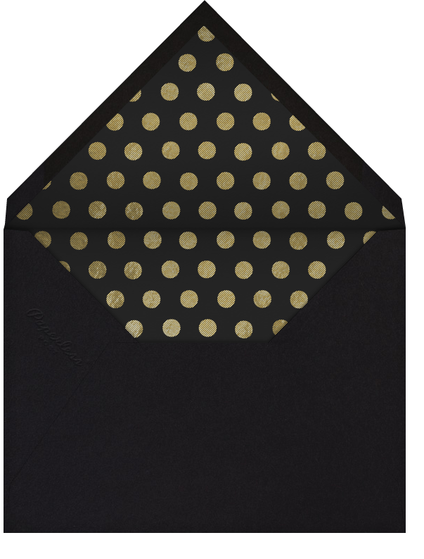 Champers - Paperless Post - Winter entertaining - envelope back