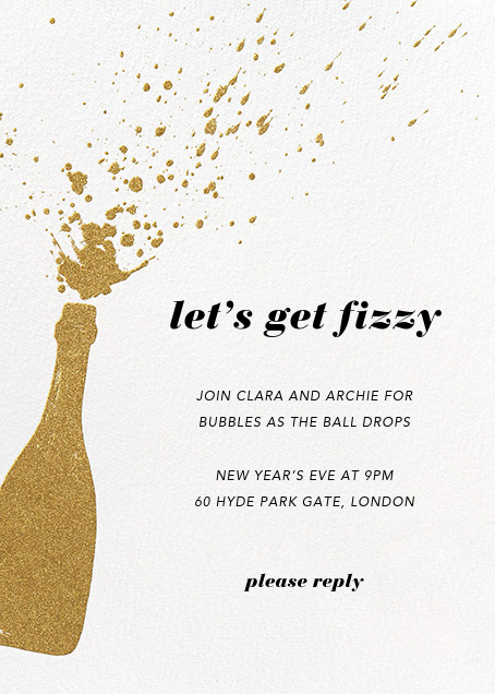 Champers - Paperless Post - New Year's Eve