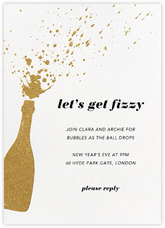 Champers - Paperless Post - Winter Party Invitations