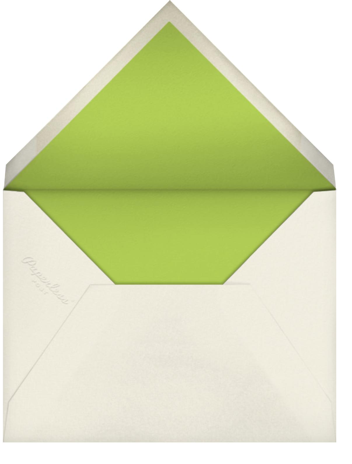 Carnaby (Photo) - Green - Paperless Post - Kids' birthday - envelope back