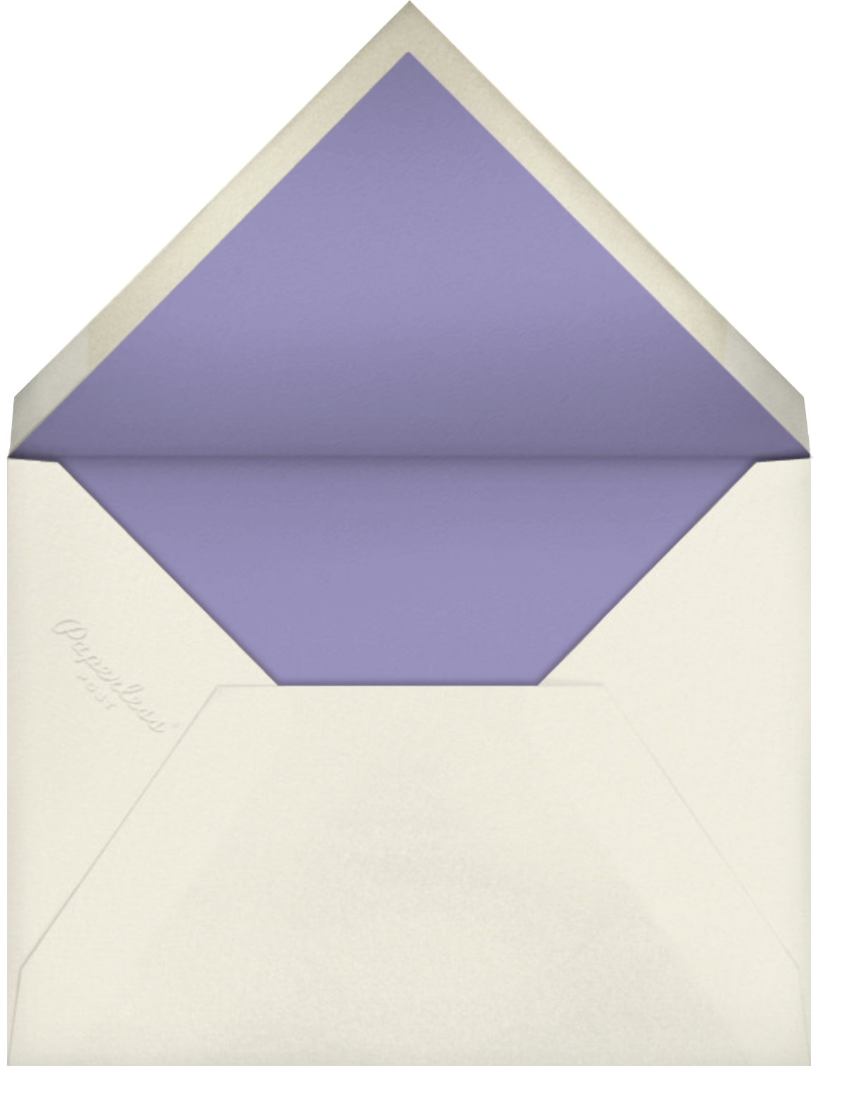 Carnaby (Photo) - Purple - Paperless Post - Kids' birthday - envelope back