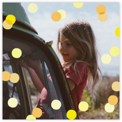 Carnaby (Photo) - Yellow - Paperless Post - Online Kids' Birthday Invitations