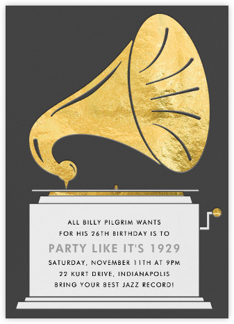 Gramophone - Paperless Post - Adult birthday invitations