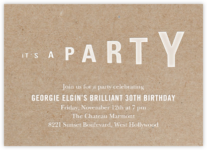Megaphonic - Paperless Post - Adult Birthday Invitations
