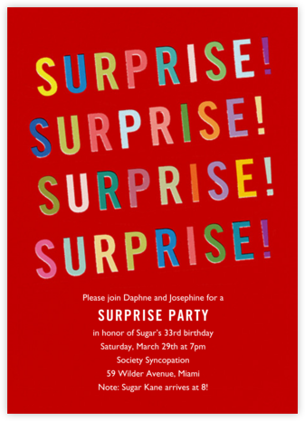 Quelle Surprise - Paperless Post - Adult birthday invitations