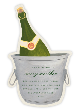 Champagne Bottle - Paperless Post - Retirement Invitations