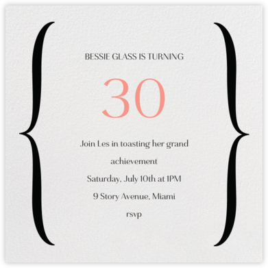 Brace Yourself - Black - Paperless Post - Adult birthday invitations