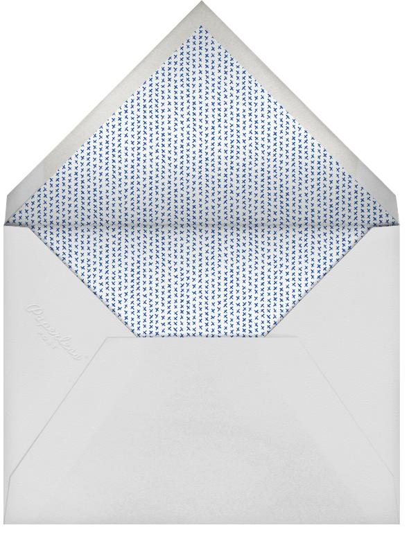 Chevrons (Tall) - Blue - Paperless Post - Adult birthday - envelope back