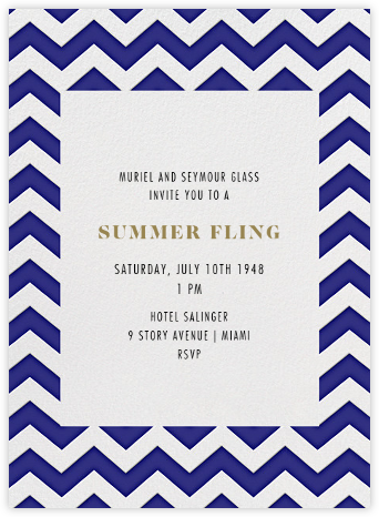 Chevrons (Tall) - Blue - Paperless Post - Online Party Invitations