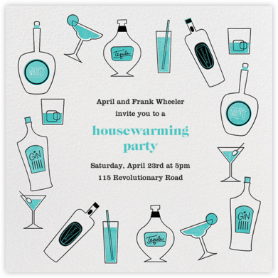 Mini Bar - Paperless Post - Housewarming party invitations