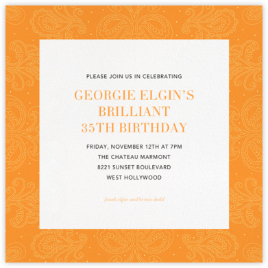 Amalfi - Tangelo - Paperless Post - Adult Birthday Invitations