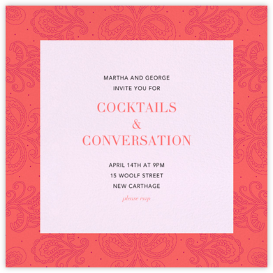 Amalfi - Coral - Paperless Post - Business event invitations
