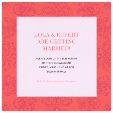 Amalfi - Coral - Paperless Post - Engagement party invitations