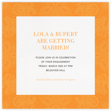 Amalfi - Tangelo - Paperless Post - Engagement party invitations
