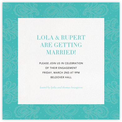 Amalfi - Lagoon - Paperless Post - Engagement party invitations