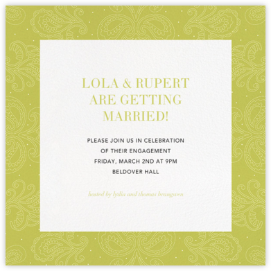 Amalfi - Chartreuse - Paperless Post - Engagement party invitations