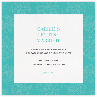 Amalfi - Lagoon - Paperless Post - Bridal shower invitations